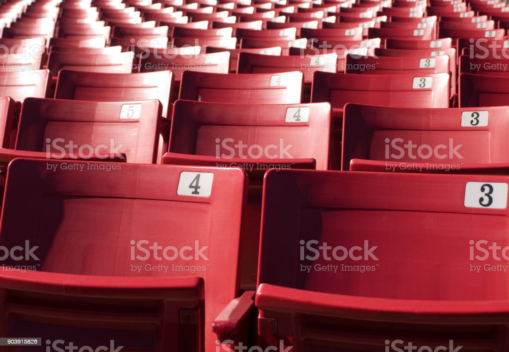 Stadium Seats Bleachers Sporting Entertainment Venue stock photo