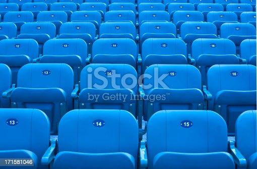 istock Stadium seats. 171581046