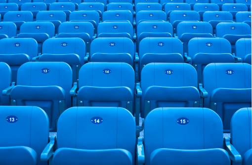 171581046 istock photo Stadium seats. 171581046