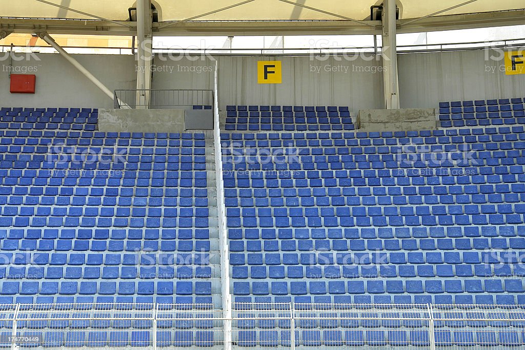 Stadium Seats (Click for more) royalty-free stock photo