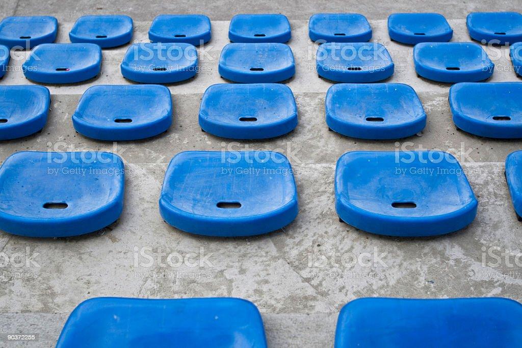 Stadium seats. royalty-free stock photo
