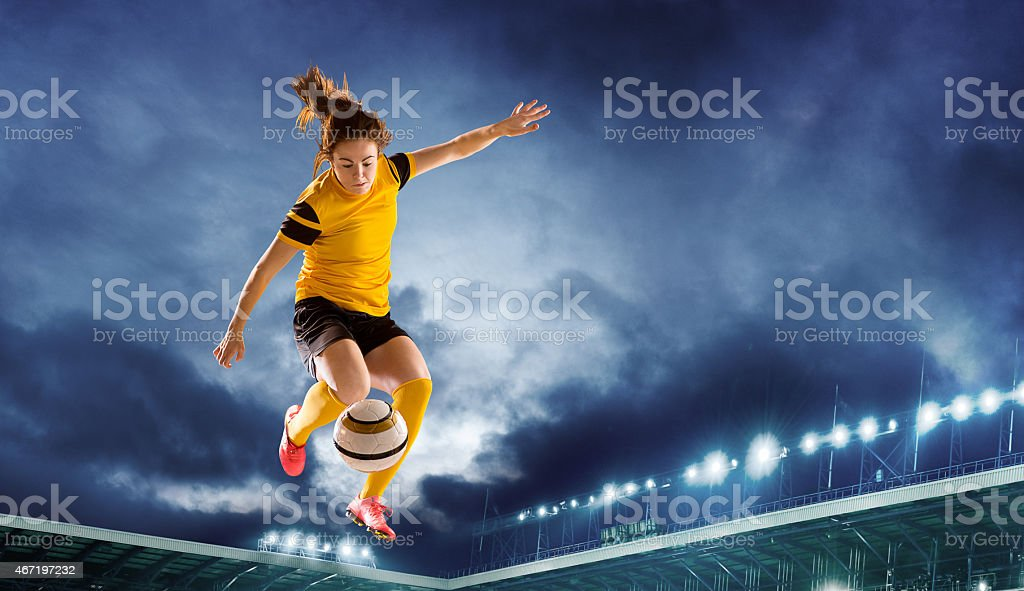 stadium strike stock photo