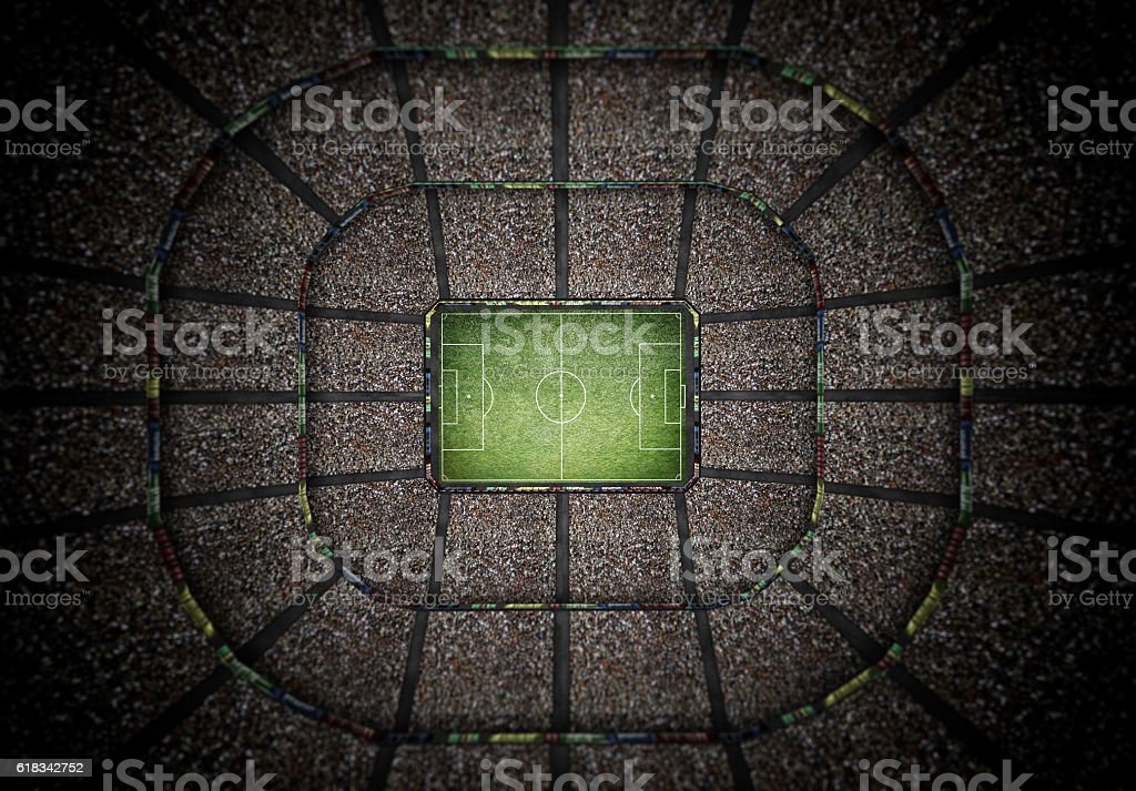 stadium top view, 3d rendering stock photo