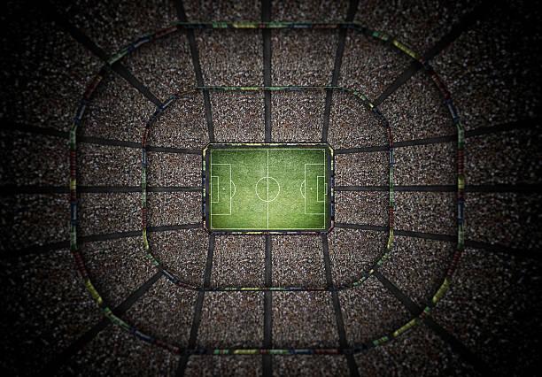 stadium top view, 3d rendering – Foto