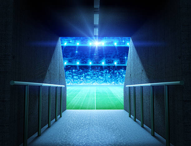 stadium tunnel - tunnel stock-fotos und bilder