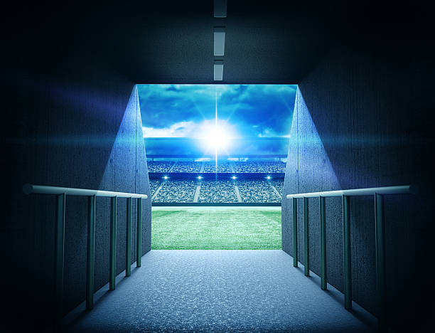 stadium tunnel - entrance stock photos and pictures