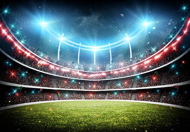 Cтоковое фото stadium with fireworks