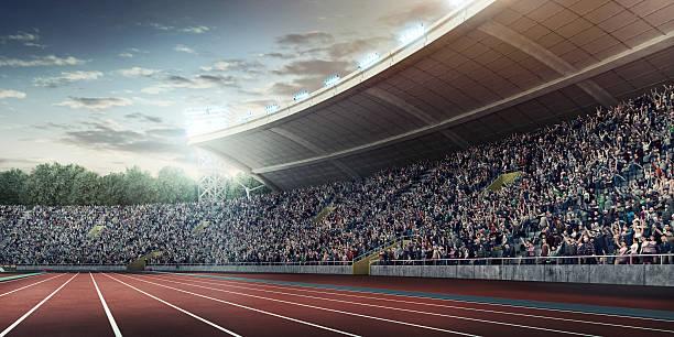 オリンピック競技場、ランニングトラック - スタジアム ストックフォトと画像
