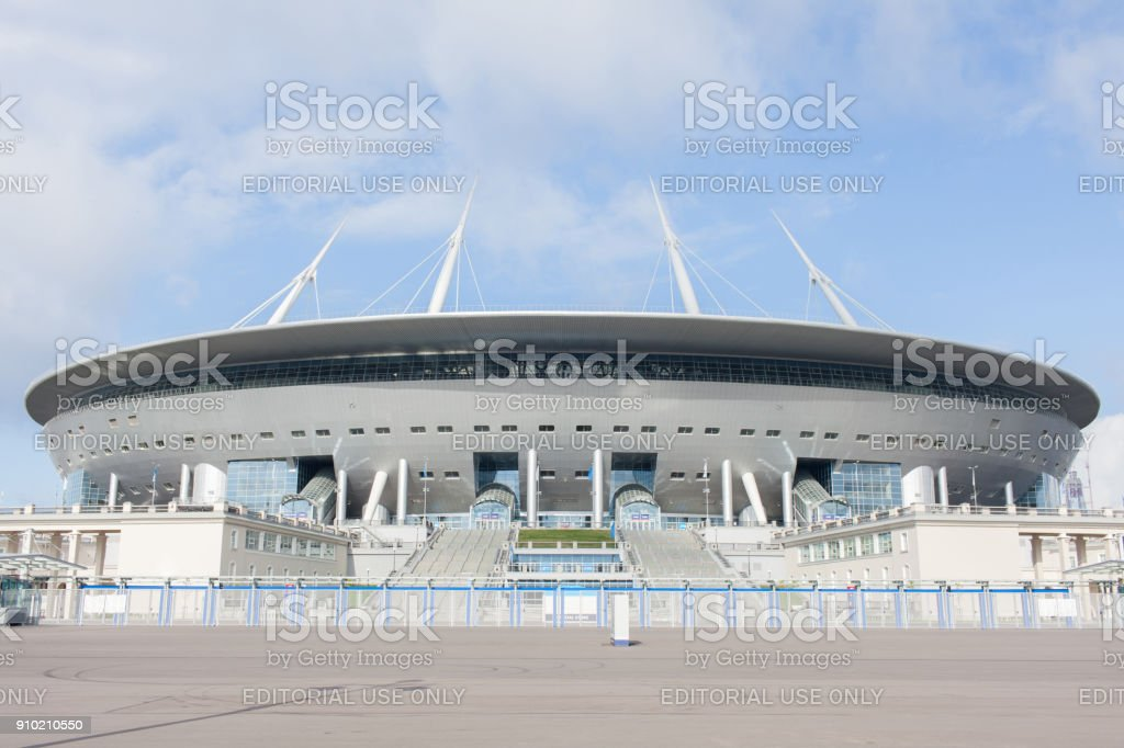 stadium Zenit arena, most expensively in the world, the FIFA World Cup in 2 stock photo