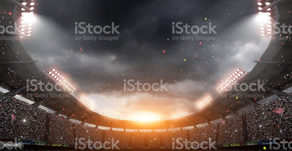 stadium,3d rendering stock photo