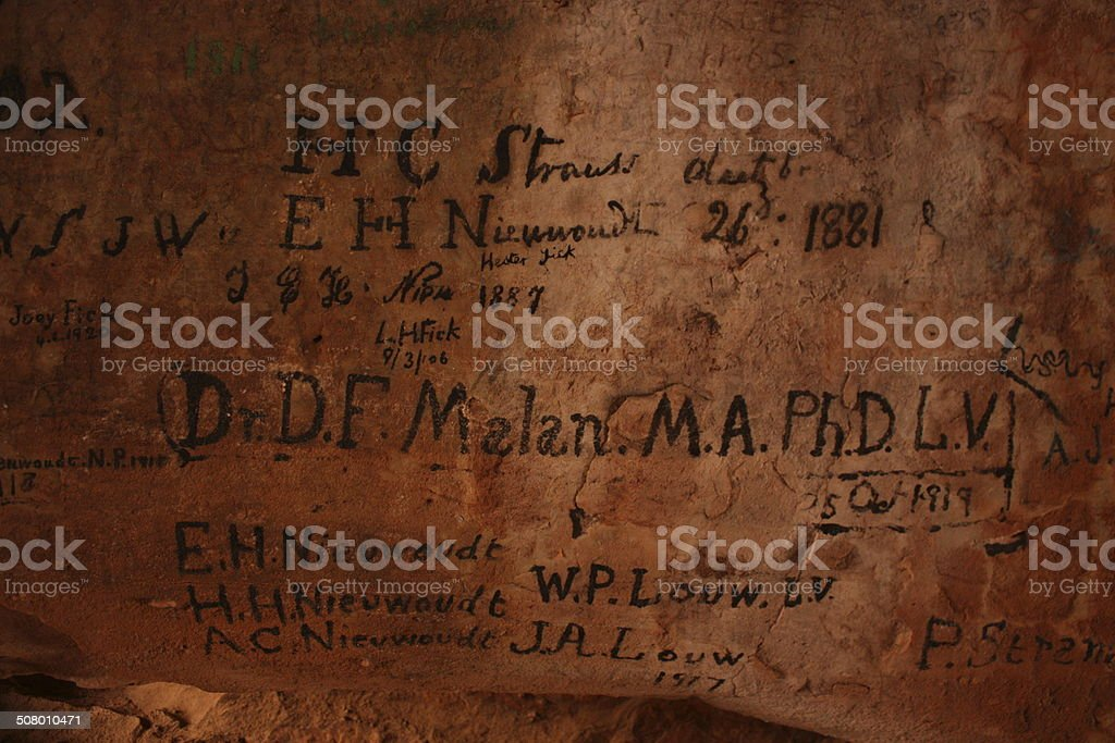Stadsaal Caves and rock paintings stock photo