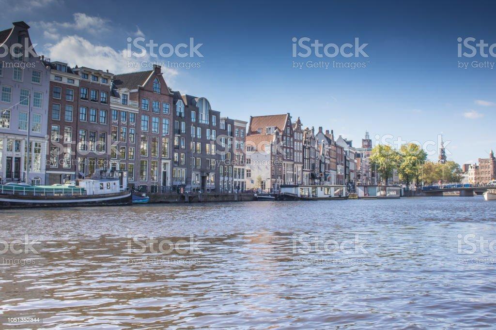 Stadtansicht von Amsterdam stock photo