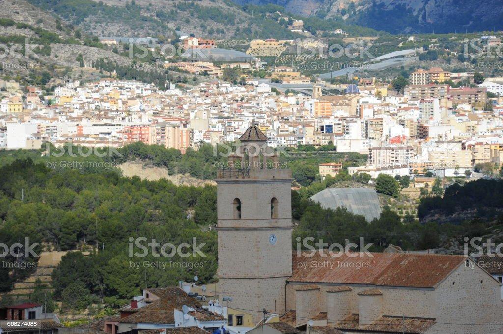 Stadtansichten - Hausfassaden in Polop de la Marina, Costa Blanca, Spanien foto stock royalty-free