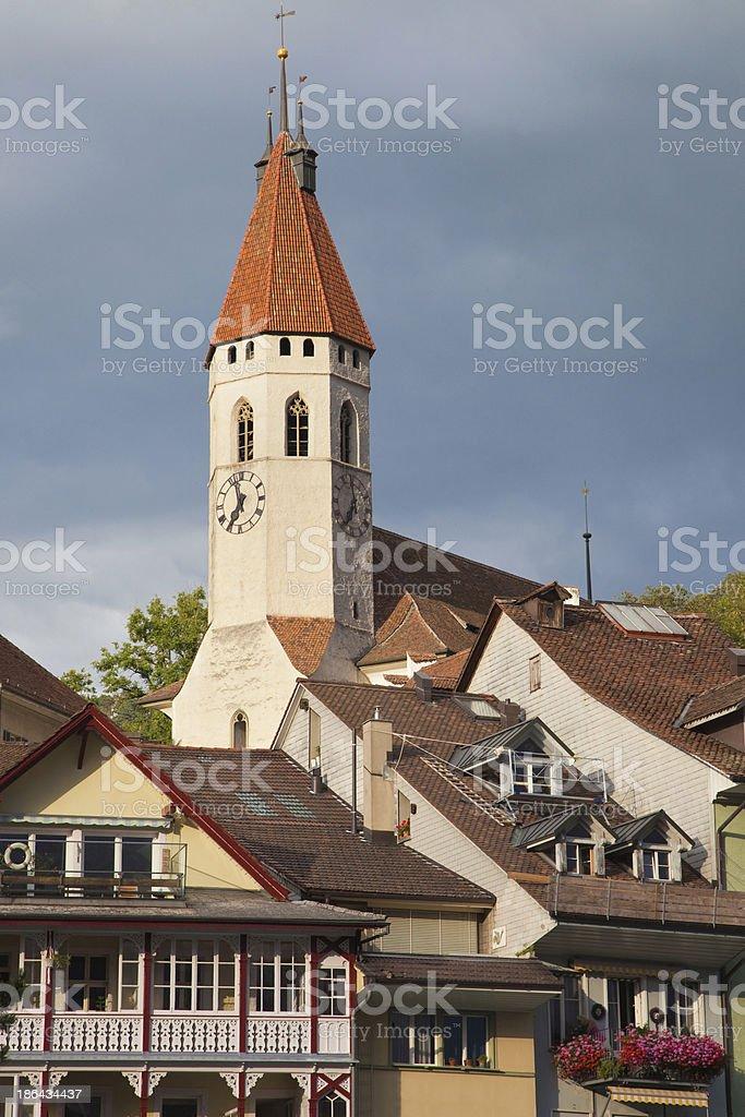 Stadtkirche in Thun royalty-free stock photo