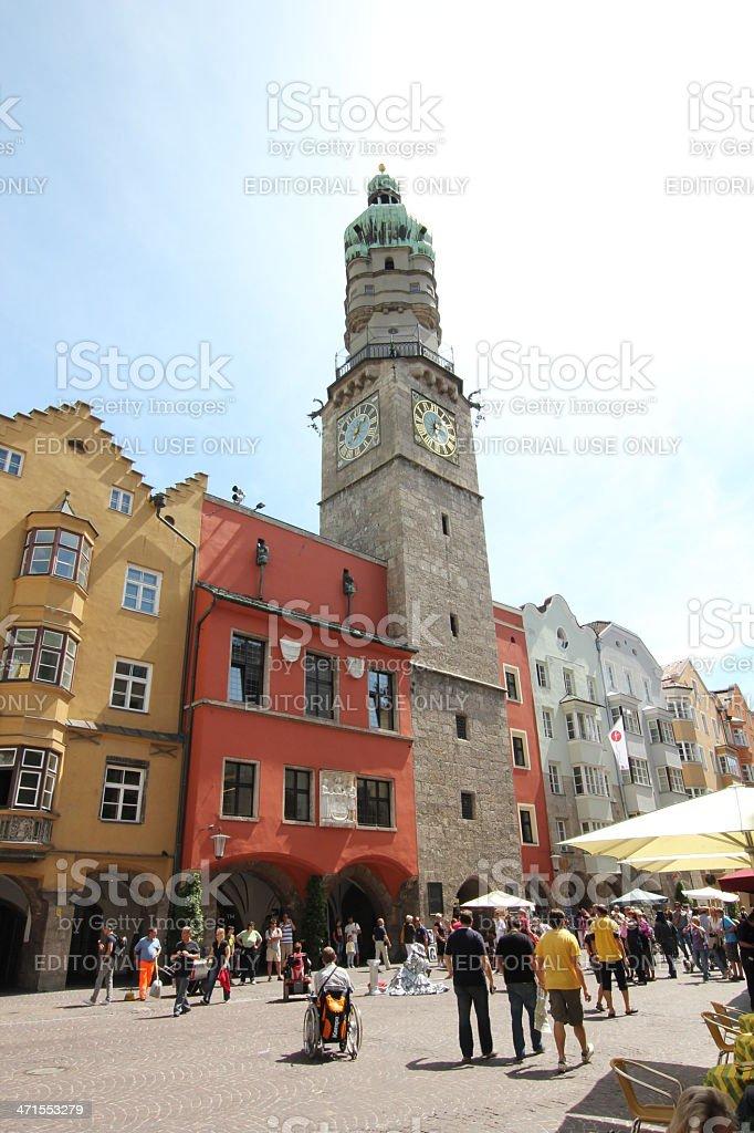 Stadtturm, Historic Old Town, Innsbruck, Tyrol,  Austria stock photo