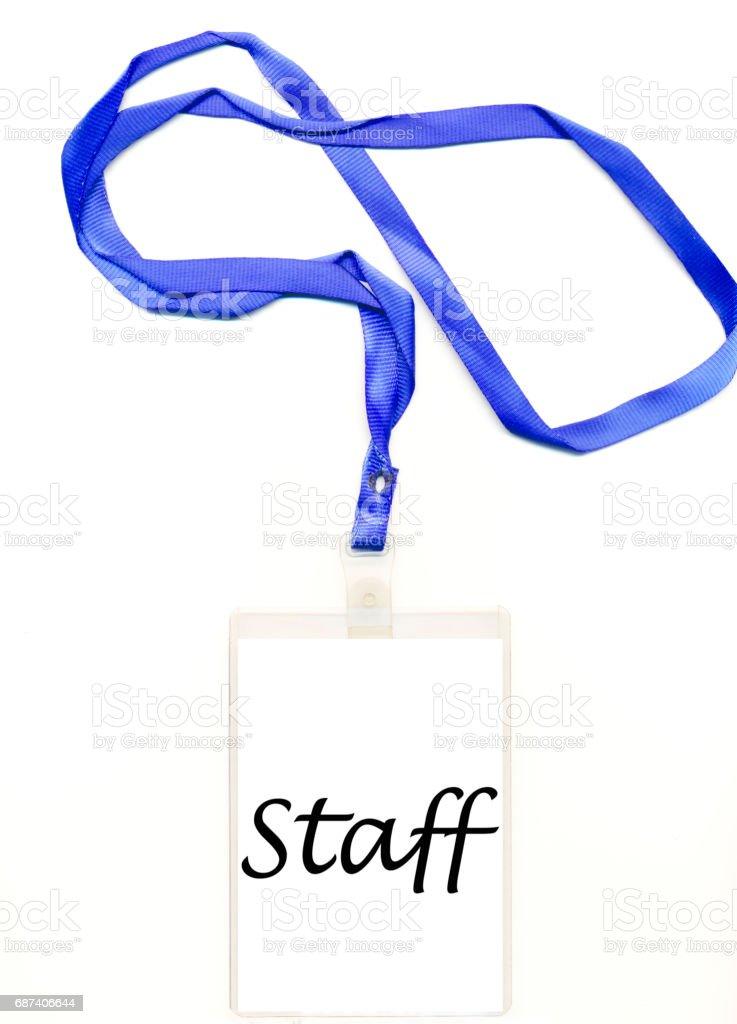staff credentials stock photo