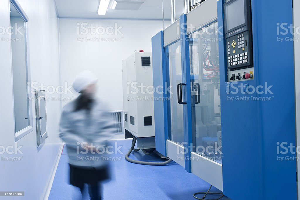 Staff in the operation of medical equipment royalty-free stock photo