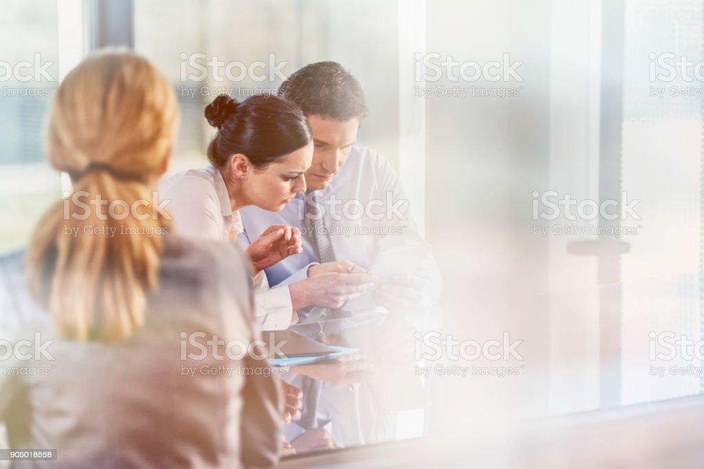 Staff meeting stock photo
