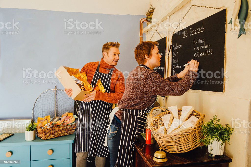 Staff Preparing Meals stock photo