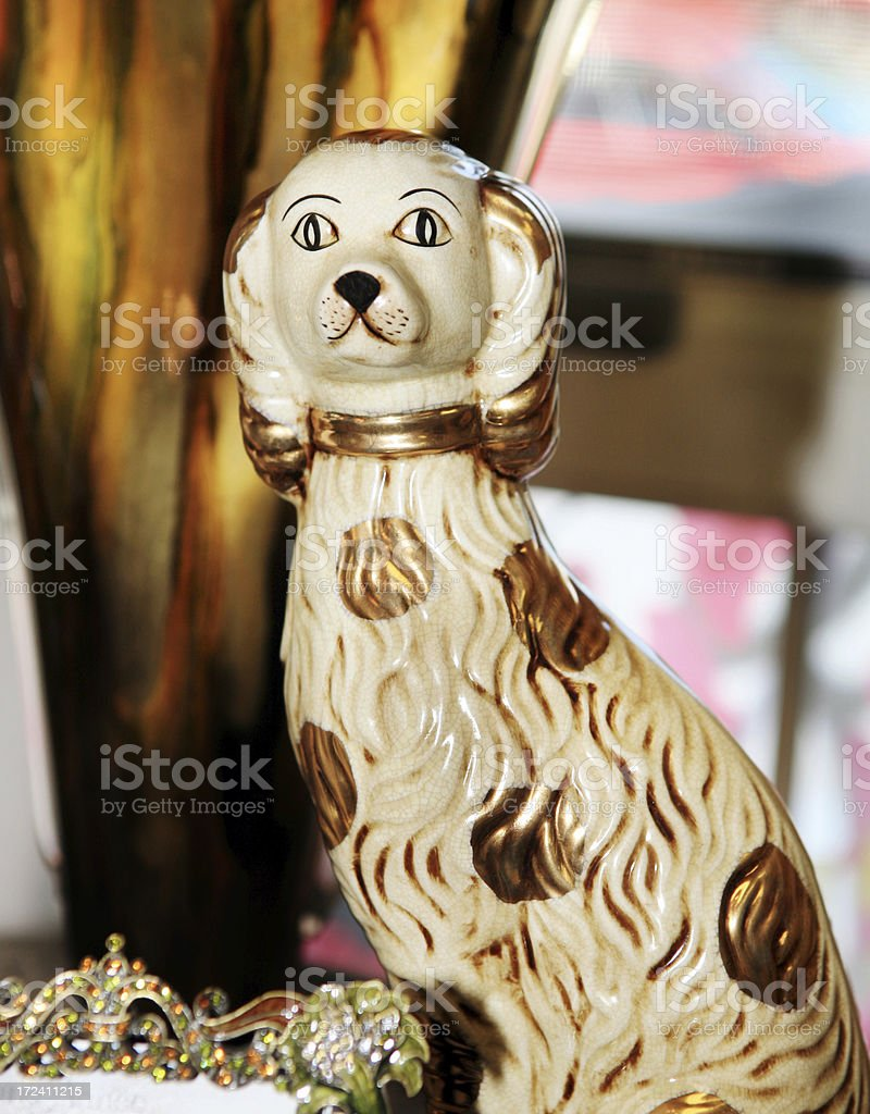 Staffordshire Dog Figuerine stock photo