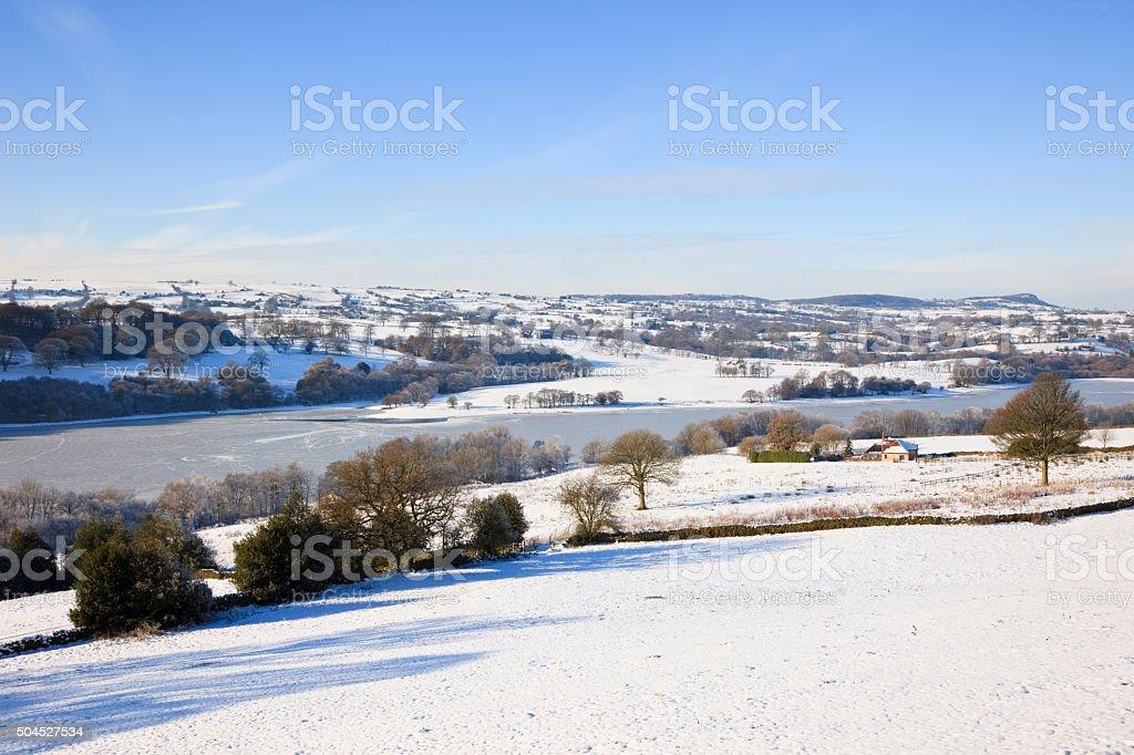 Staffordshire landscape in winter stock photo
