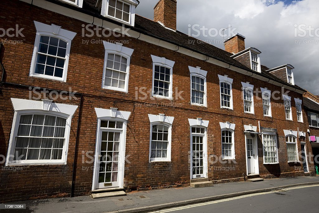 Staffordshire Town Houses stock photo