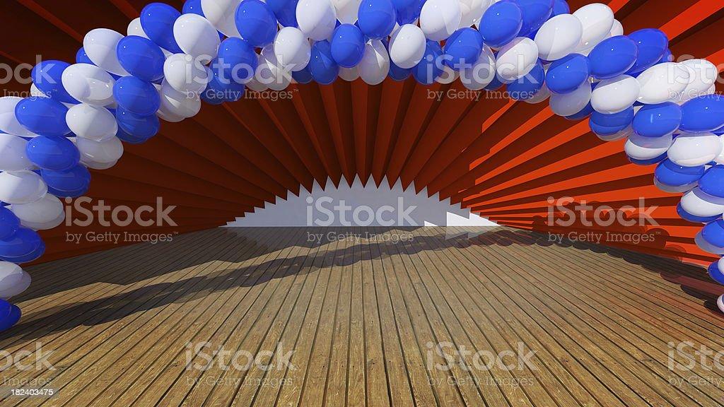 Stage Balloons stock photo