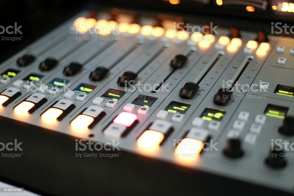 Stage controller with lights stock photo