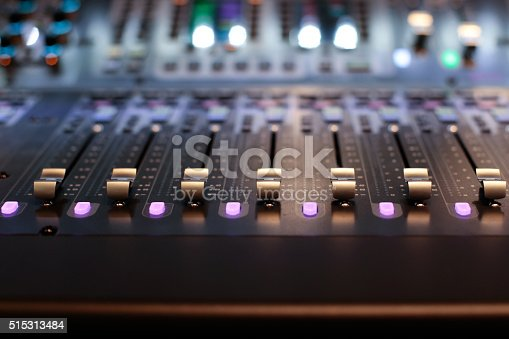 istock Stage controller with sliders 515313484