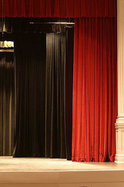 Stage Curtain 3 stock photo