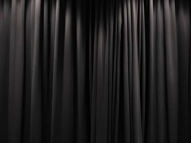 stage curtain black curtain backdrop background - sipario foto e immagini stock