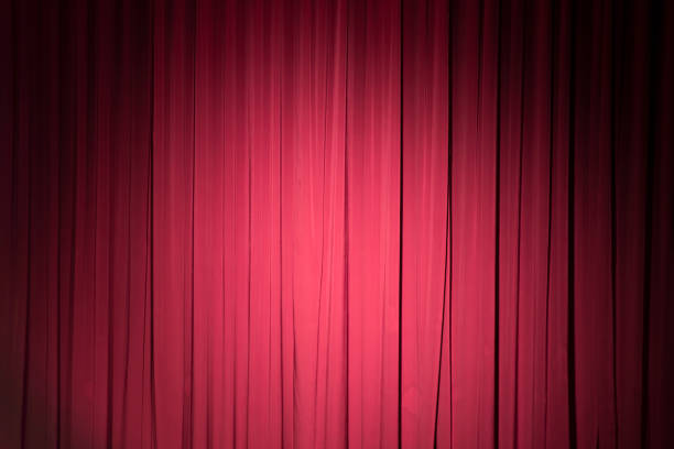 Stage curtain stock photo