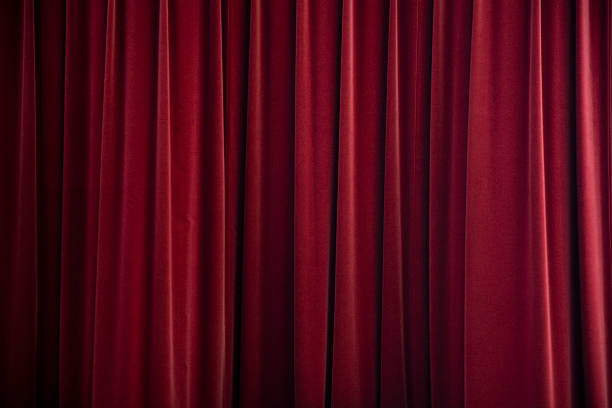 stage curtain red velvet - curtain stock pictures, royalty-free photos & images