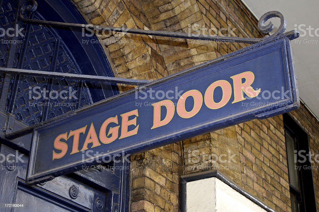 Stage door entrance sign royalty-free stock photo