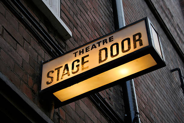 Stage door  theatrical performance stock pictures, royalty-free photos & images