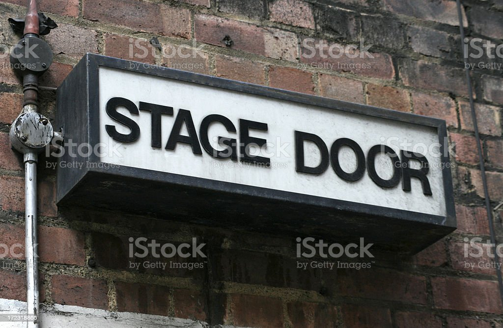 Stage Door stock photo