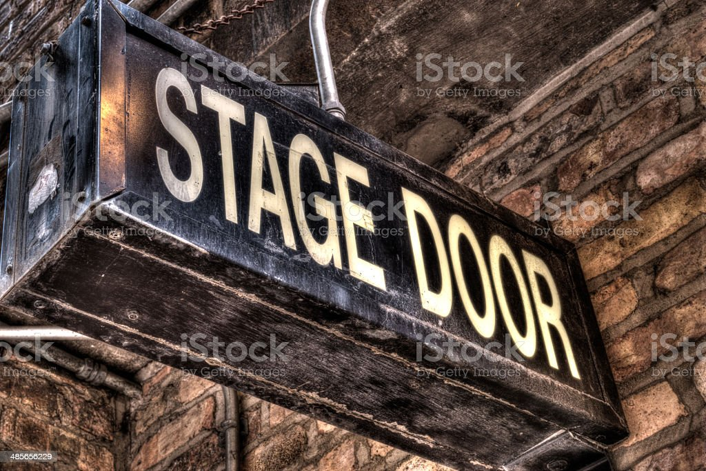HDR Stage Door royalty-free stock photo