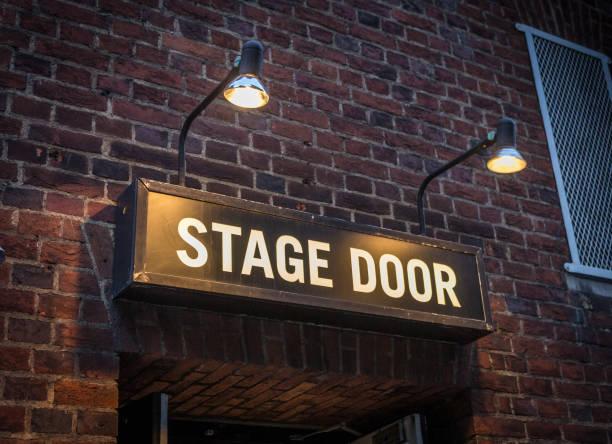 Stage Door Sign stock photo