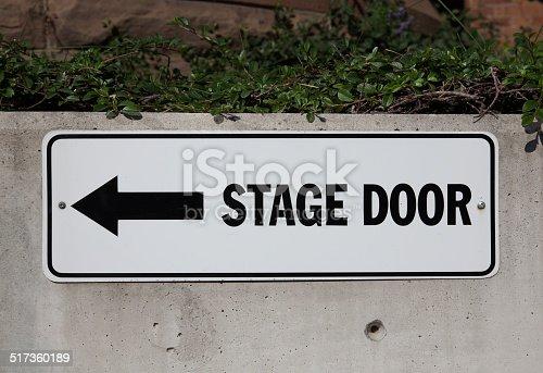 istock Stage Door Sign 517360189