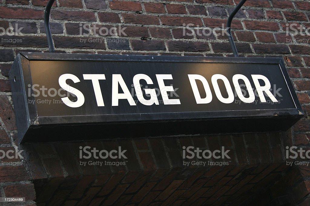 Stage Door - theatre royalty-free stock photo