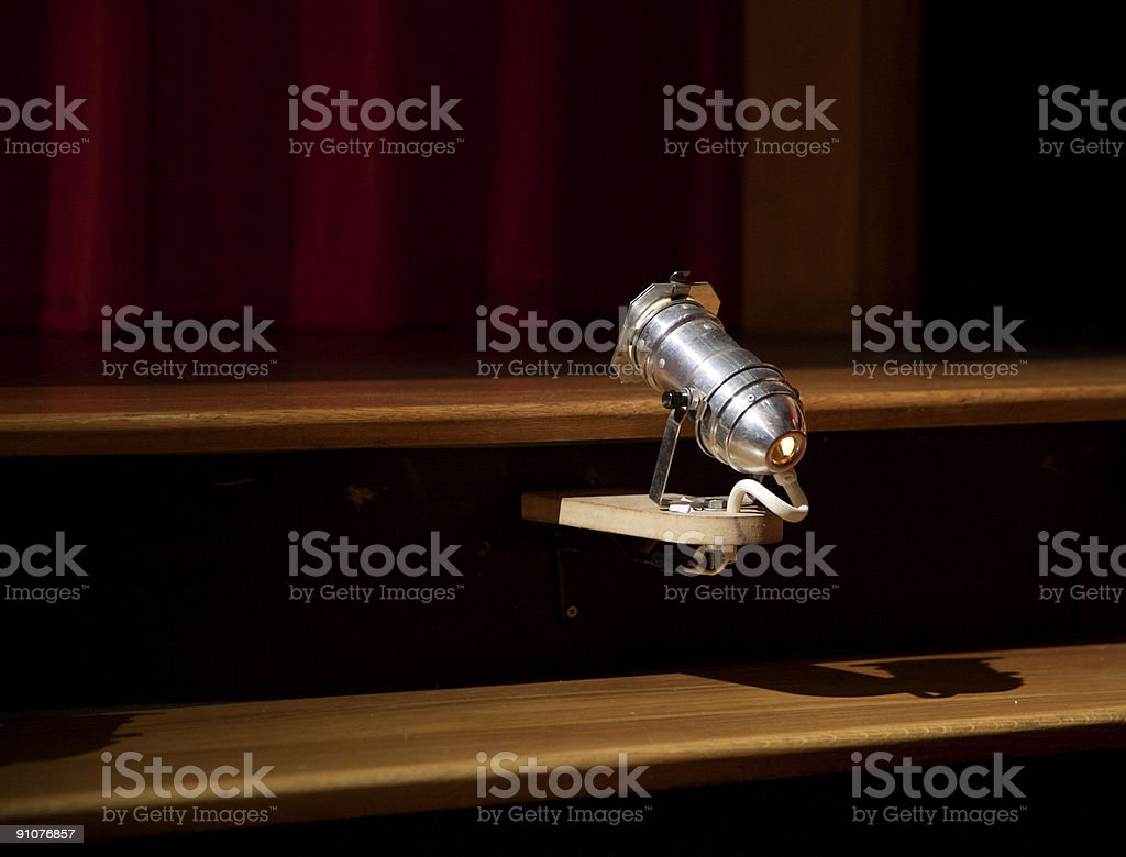 Stage Footlight stock photo