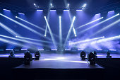 istock Stage for live concert Online transmission. Business concept for a concert online production broadcast in realtime as events happen. Stage for online live concert Concert live streams available online 1227545308