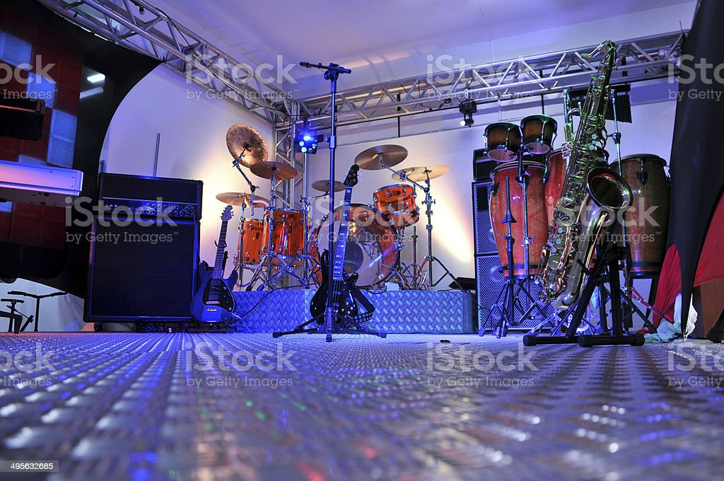 stage instruments stock photo