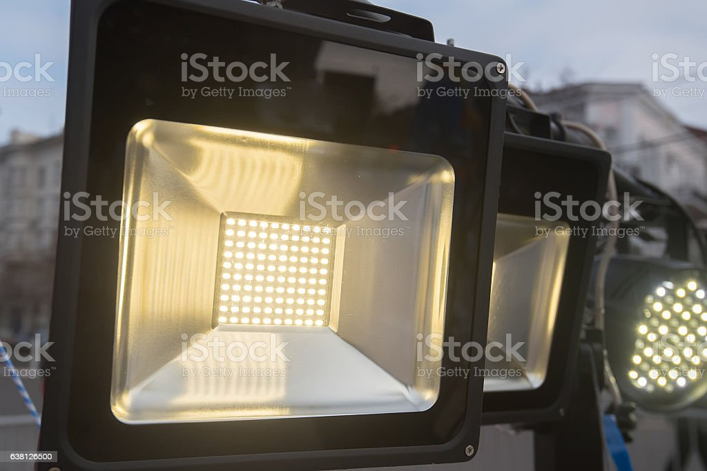 Stage light source stock photo