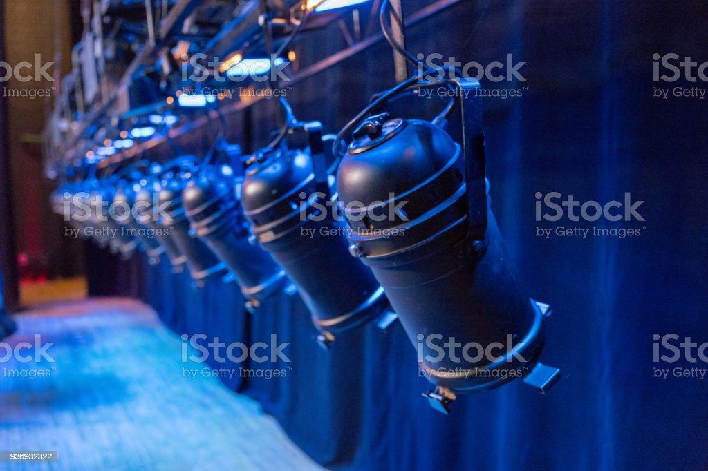 Stage lighting stock photo