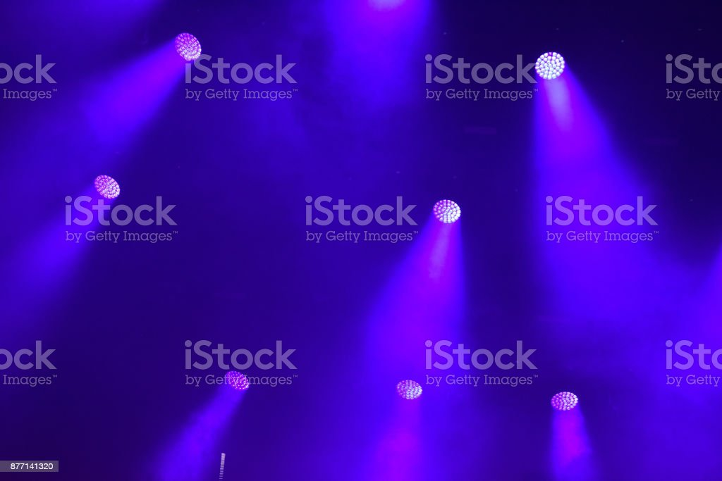Stage lights at concert stock photo