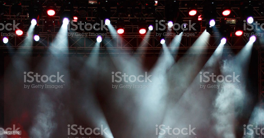 Stage lights background stock photo