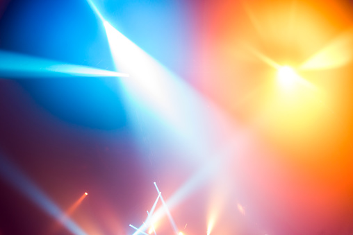 istock Stage lights background 832539138