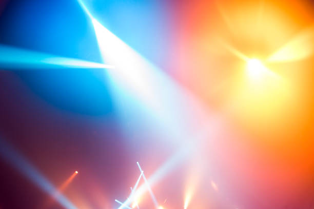 stage lights background - light effect stock pictures, royalty-free photos & images