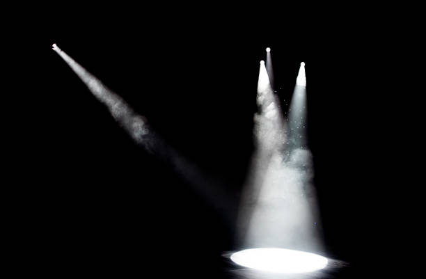 Stage Lights Spotlights on the stage, high iso shot stage light stock pictures, royalty-free photos & images